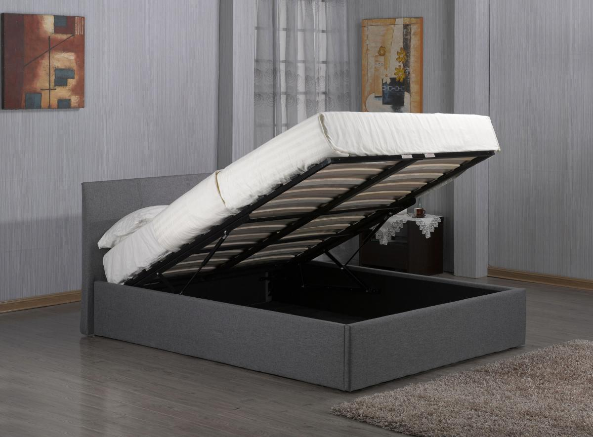 viewing fusion fabric storage 4 foot bed grey beds 4. Black Bedroom Furniture Sets. Home Design Ideas