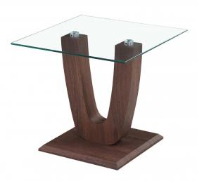 Heartlands furniture products capri lamp table clear glass walnut aloadofball Image collections